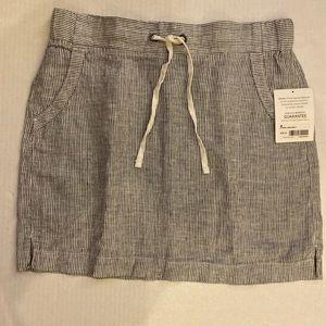 Athleta striped linen skirt, size 6